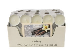 Wholesale Creamy Vanilla Tealight Candles 12 Pack PDQ | Gem Imports Ltd