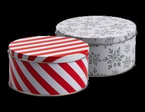 Wholesale Xmas Cake Tin  | Gem Imports Ltd