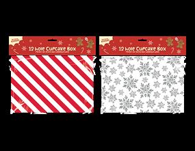 Wholesale Christmas 12-hole Cupcake Boxes | Gem Imports Ltd