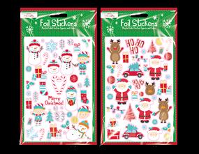 Wholesale Xmas Foil Finish Stickers | Gem Imports Ltd