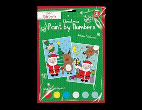 Wholesale Xmas Paint By Numbers 2 Pack | Gem Imports Ltd