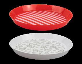 Wholesale Xmas Round Serving Tray Dia. 36cm | Gem Imports Ltd