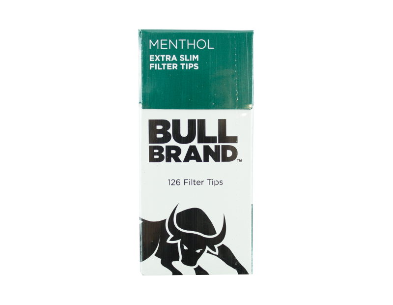 Bull Brand Extra Slim Menthol Filter Tips - Twin Pack