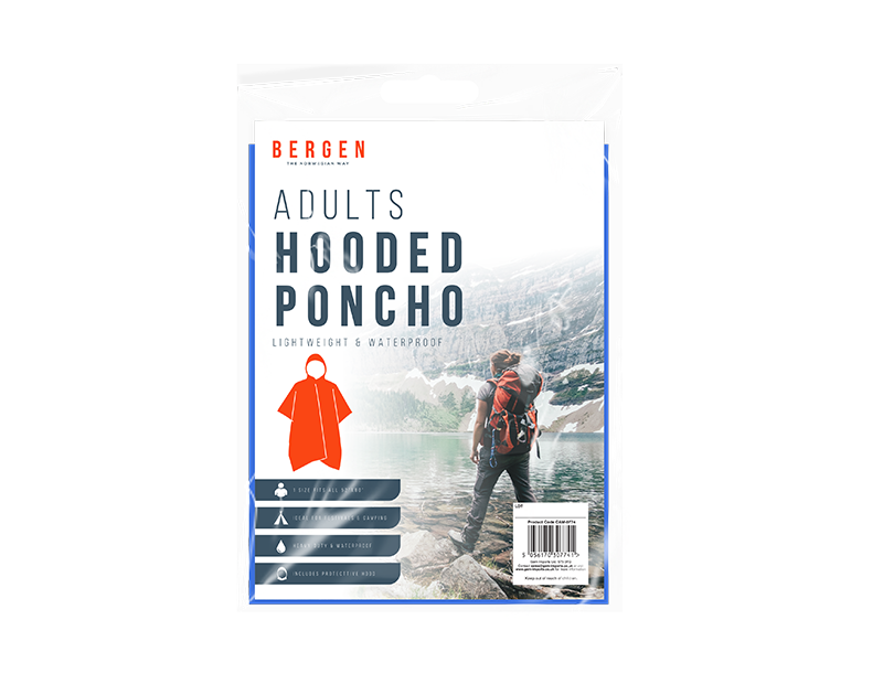 Adult Hooded Poncho