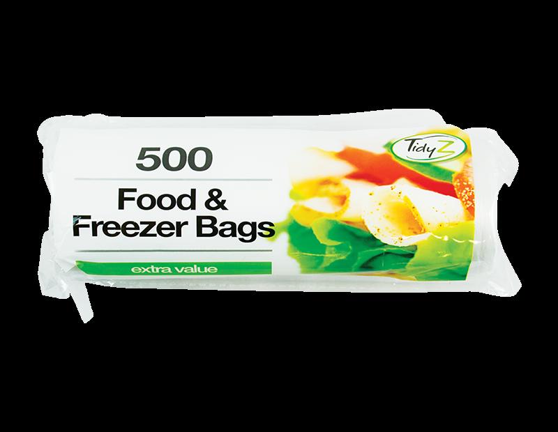 Food & Freezer Bags - 500 Pack