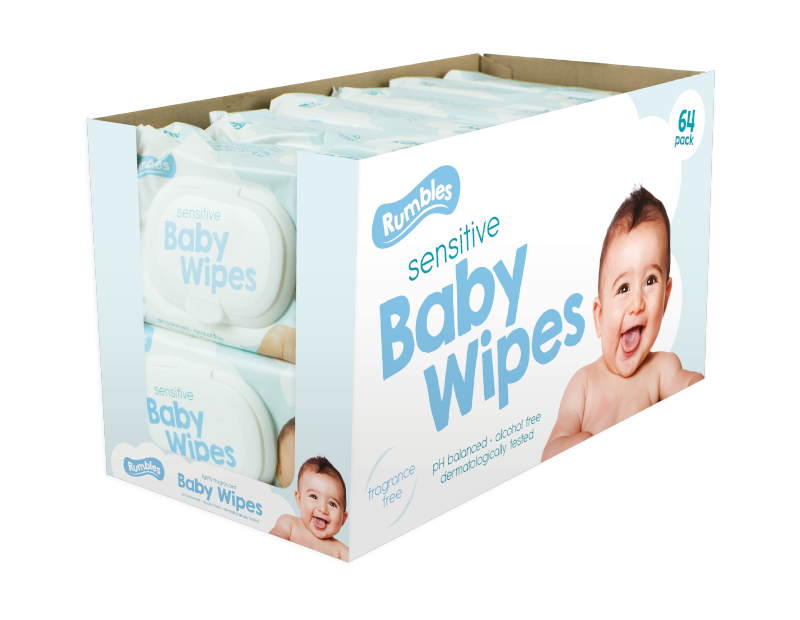 Sensitive Baby Wipes - 64 Pack