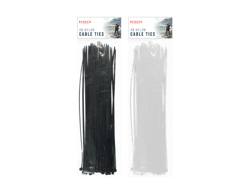 Outdoor Cable Ties - 48 Pack