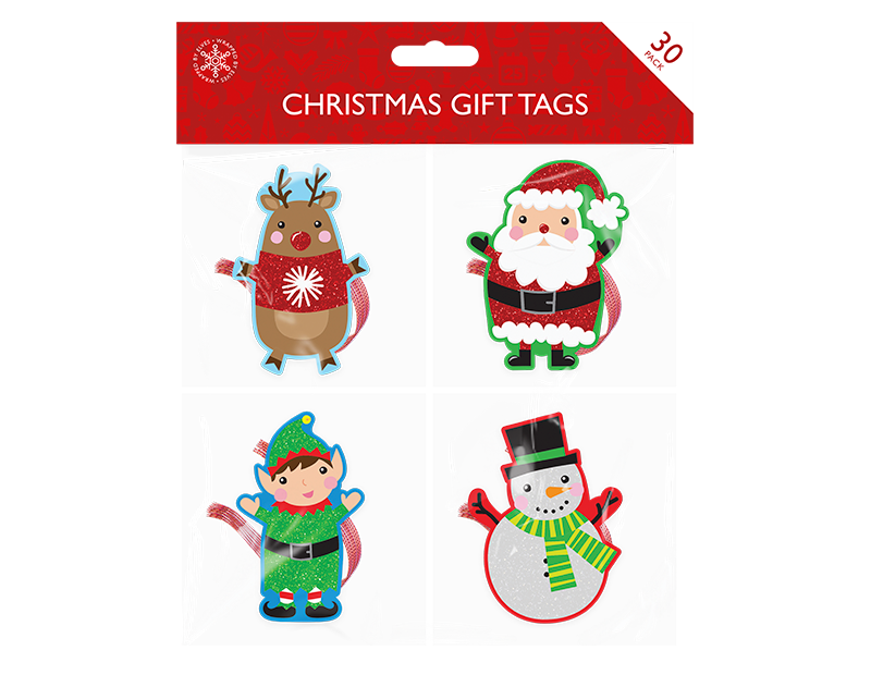 Christmas Character Gift Tags - 30 Pack