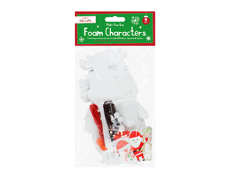 Christmas Craft Foam Characters - 9 Pack