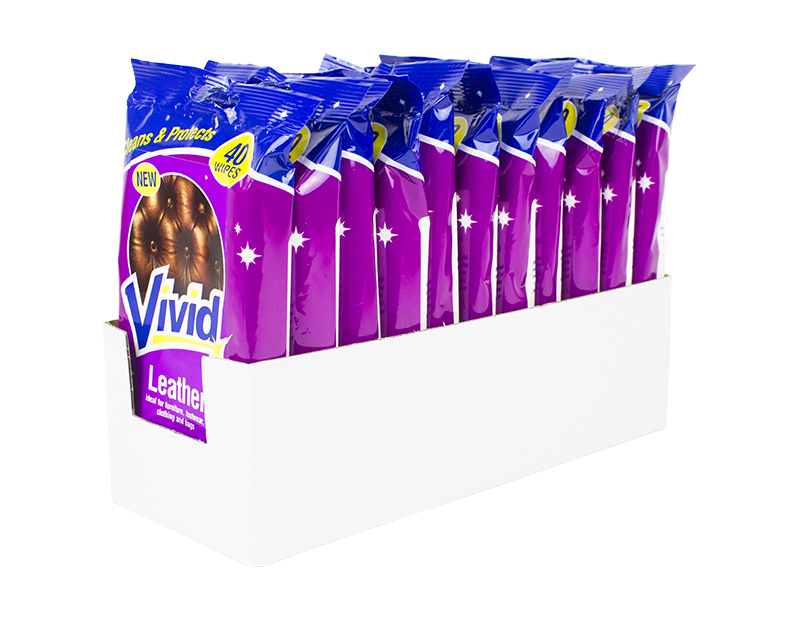 Leather Cleaning Wipes - 40 Pack
