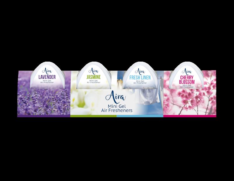 Mini Gel Air Fresheners - 4 Pack