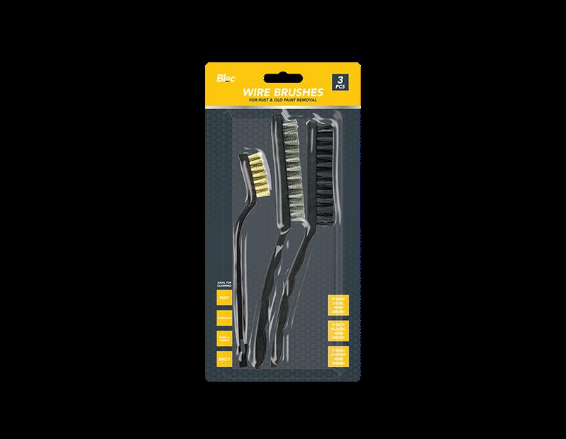 Wire Brushes Set - 3 Piece Set