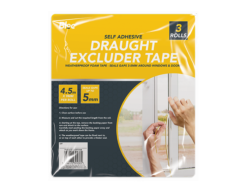 Draught Excluder Tape - 3 Rolls