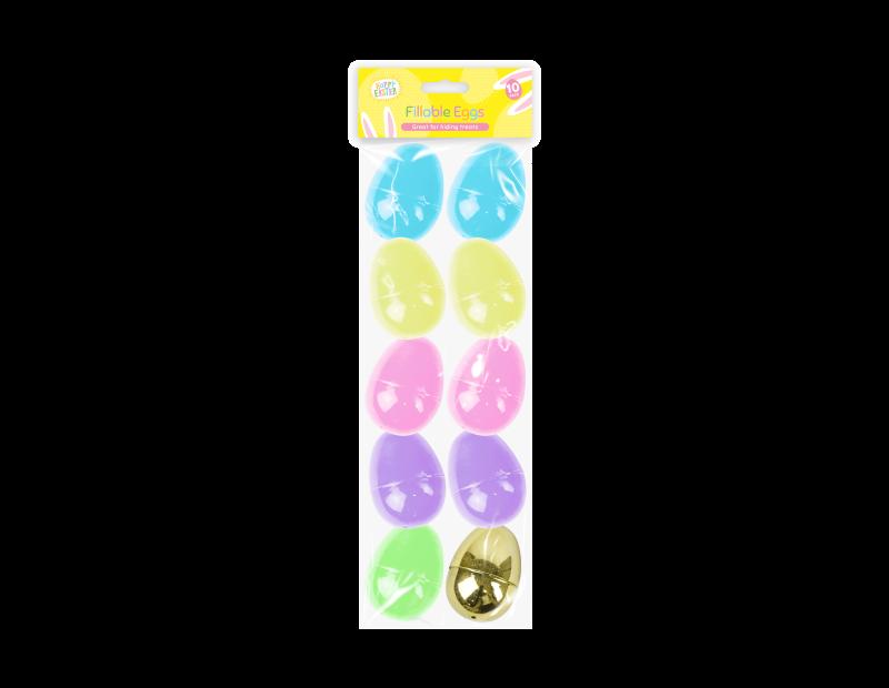 Easter Fillable Eggs - 10 Pack