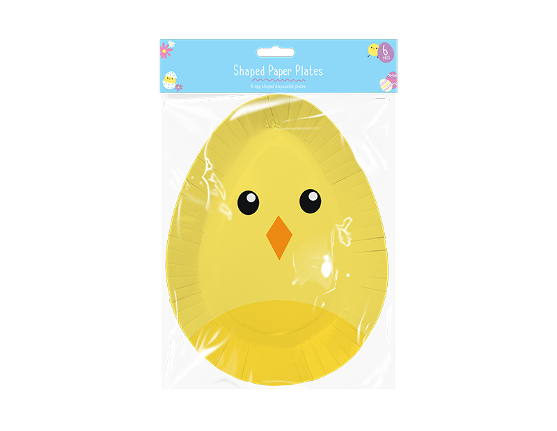 Easter Disposable Shaped Plates - 6 Pack