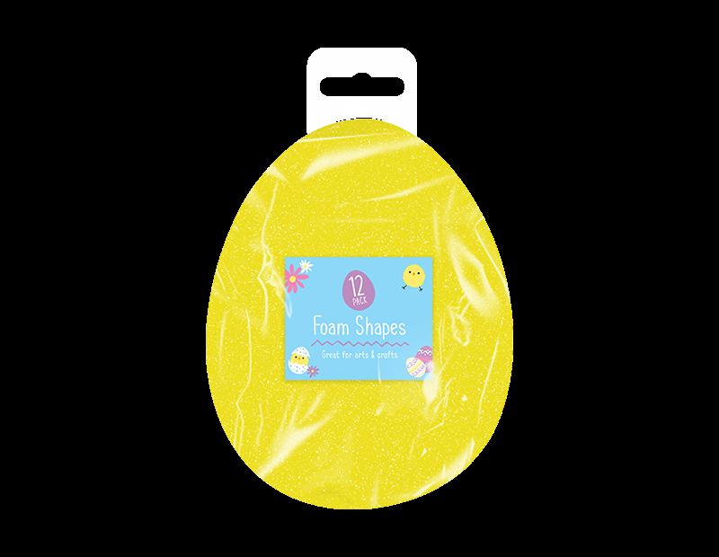 Easter Egg Foam Shapes - 12 Pack