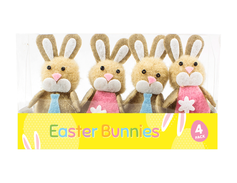 Easter Bunny Decorations - 4 Pack (With PDQ)