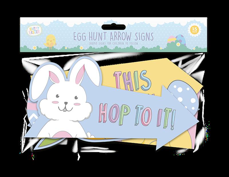 Easter Egg Hunt Arrows - 15 Pack