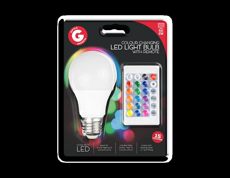 Remote Control Colour Changing LED Bulb ES/E27