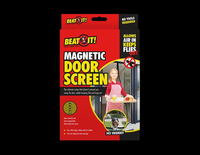 Black Magnetic Door Screen