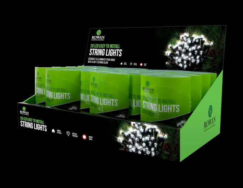White LED String Lights - 20 Pack