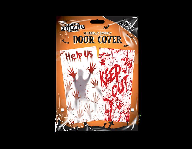 Halloween Scary Door Cover