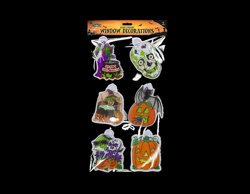 Halloween Window Decorations - 6 Pack