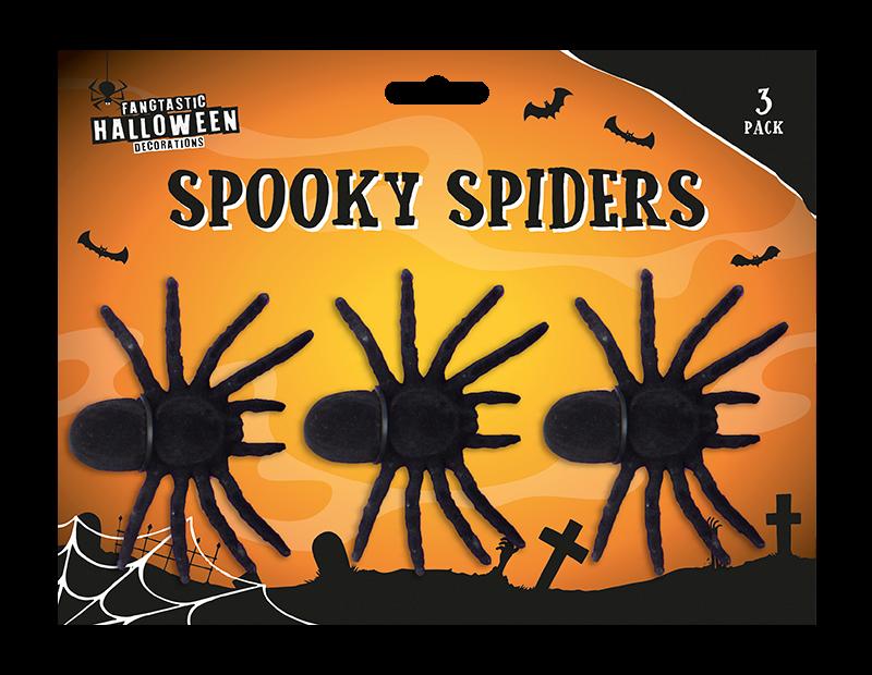 Halloween Spooky Spiders - 3 Pack