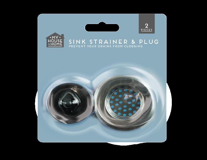 Sink Strainer & Plug Set - 2 Piece