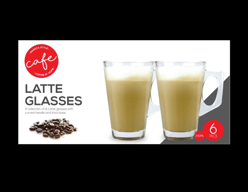 Latte Glasses - 6 Pack