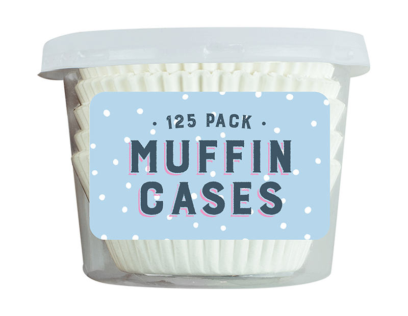 Muffin Cases - 125 Pack