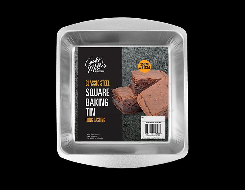 Classic Steel Square Cake Tin
