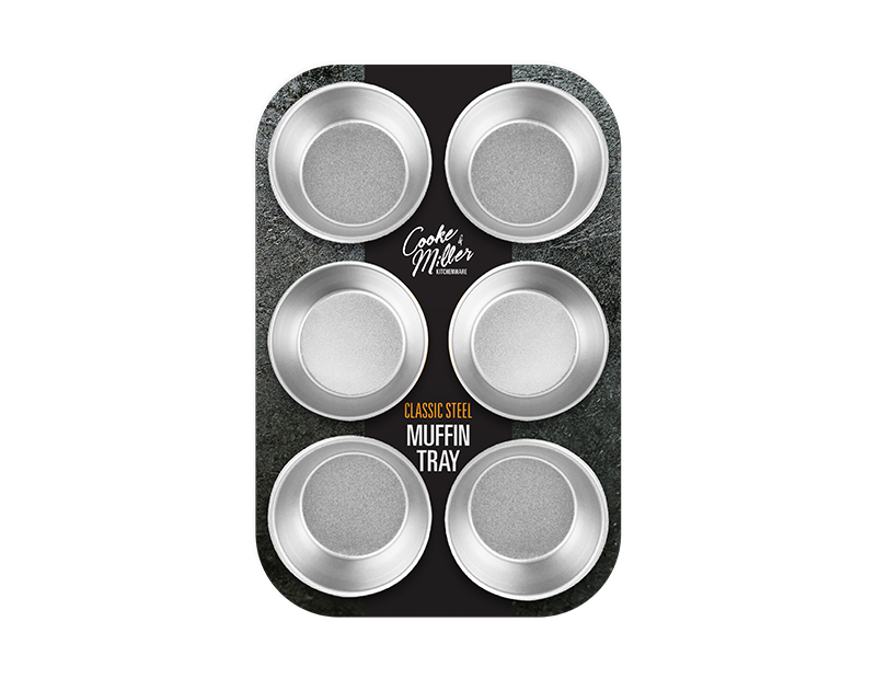 Classic Steel Muffin Tray - 6 Cup