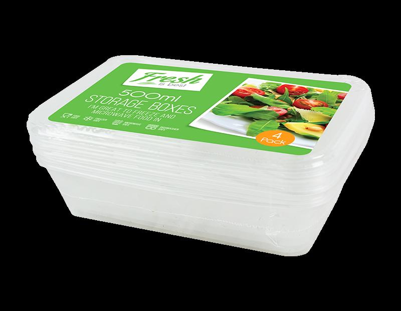 Food Storage Boxes 500ml - 4 Pack