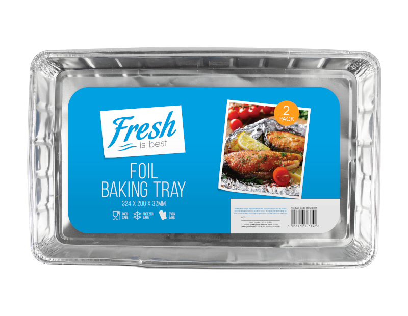 Foil Baking Trays - 2 Pack