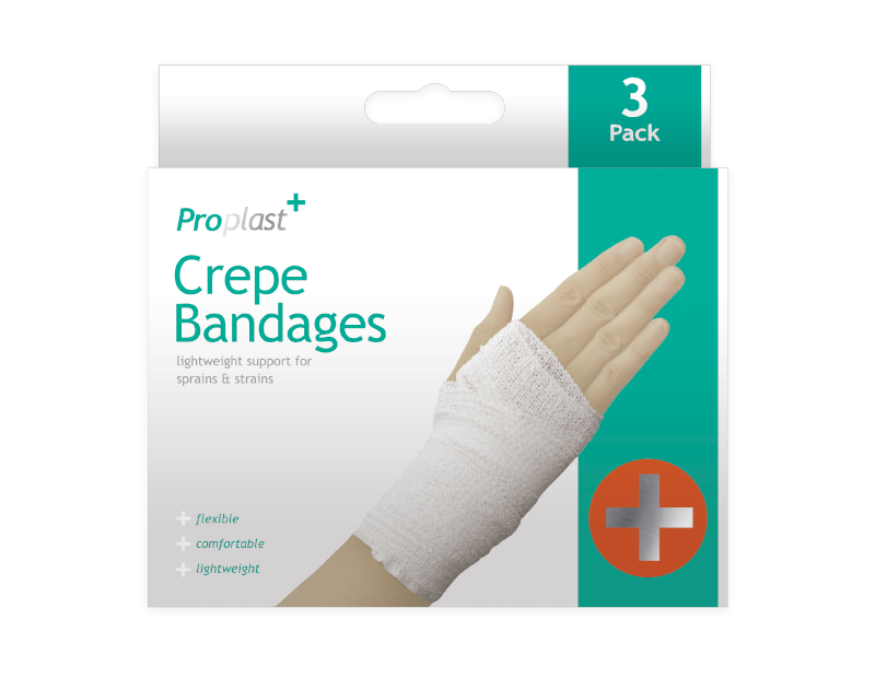 Crepe Bandages - 3 Pack