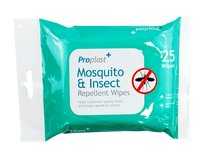 Mosquito & Insect Wipes - 25 Pack
