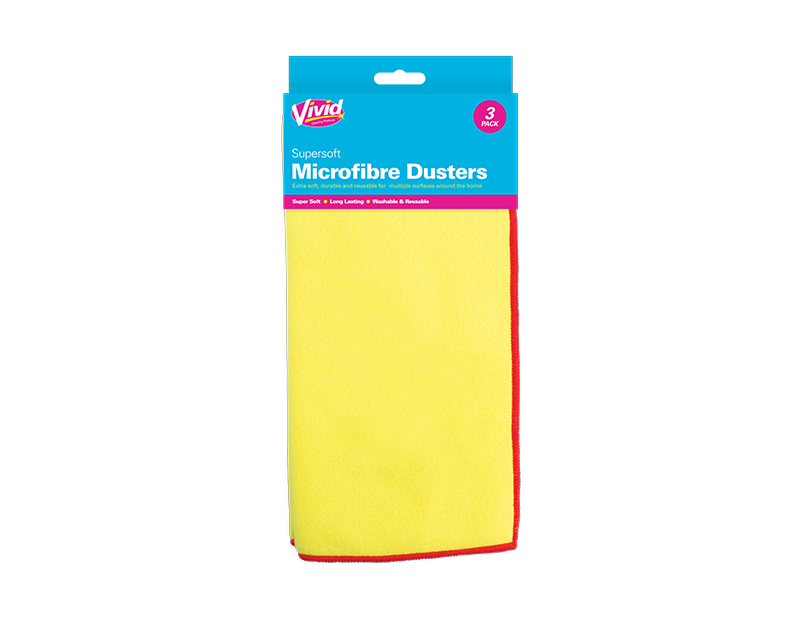 Microfibre Dusters - 3 Pack