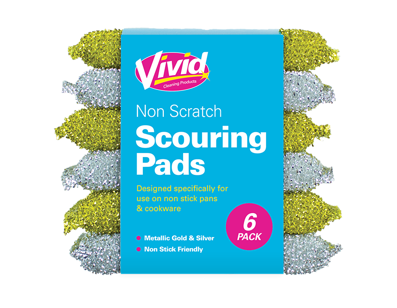 Non-scratch Scouring Pads - 6 Pack