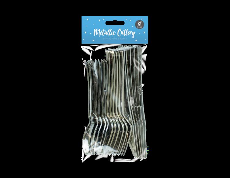 Metallic Cutlery - 18 Pieces