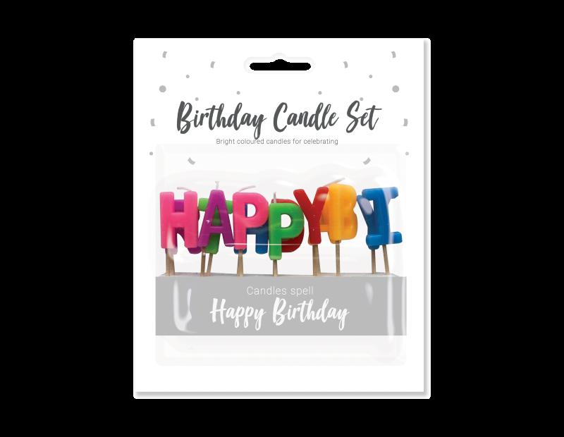 Happy Birthday Candle Set - 13 Piece