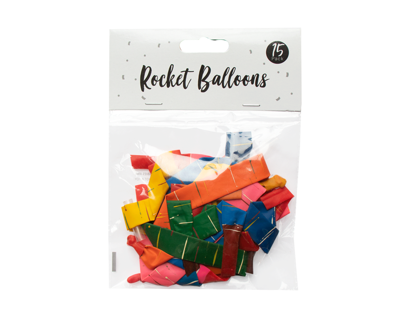 Rocket Balloons - 15 Pack