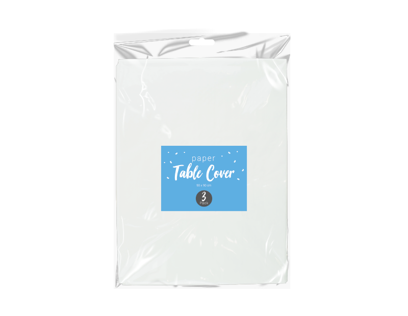 Disposable Paper Tablecloths - 3 Pack