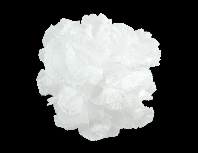 Exfoliating White Bath Ruffle