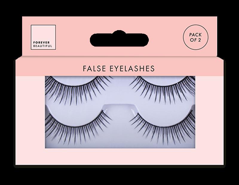 False Eyelashes - 2 Pairs