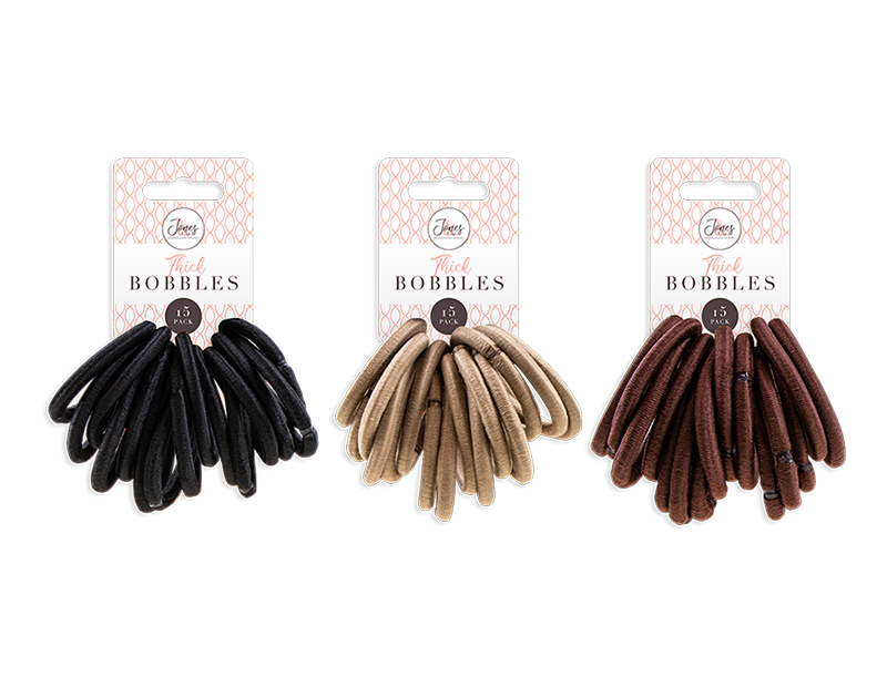 Thick Hair Bobbles - 15 Pack