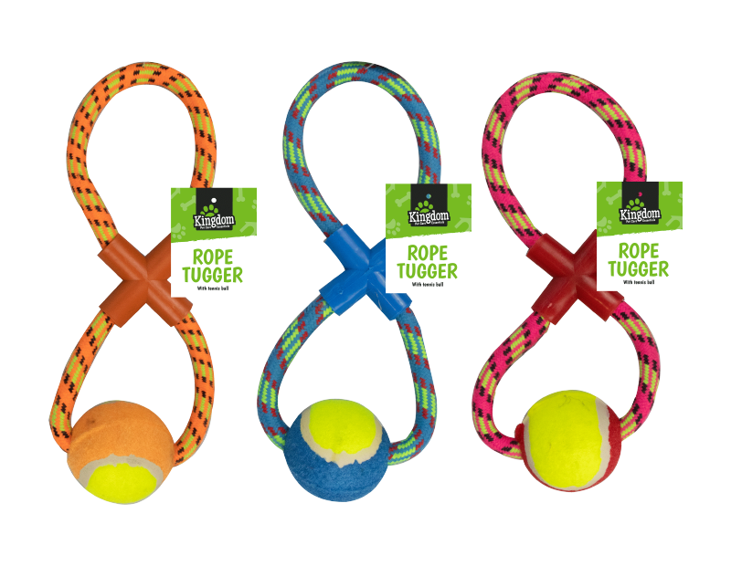 Rope Dog Pull & Tug Toy With Ball