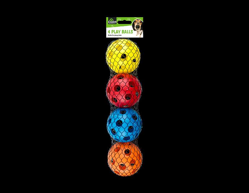 Dog Play Balls - 4 Pack