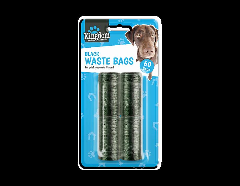 Black Dog Poo Bags - 60 Pack