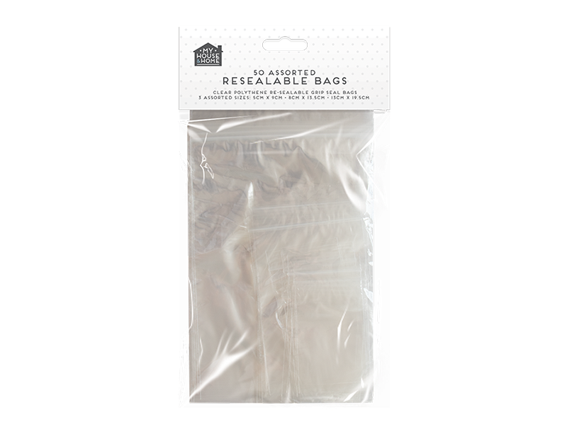 Resealable Bags - 50 Pack